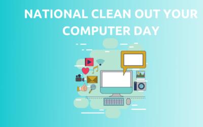 Het is de nationale #CleanOutYourComputerDay